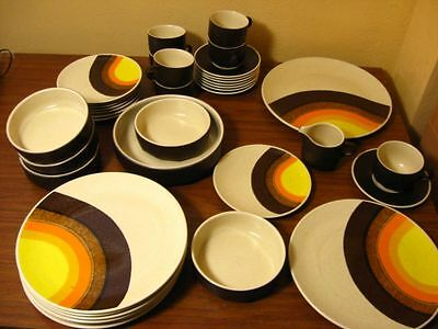 Mikasa Indian Feast Bark Brown Half Moon vintage plate bowl platter dishes 70s