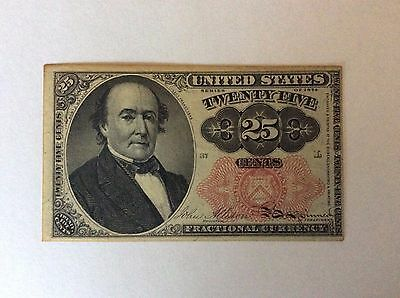 1874 25 Cents Fractional Note, 5Th Issue - Crisp
