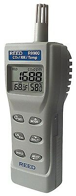 Reed Professional Indoor Air Quality CO2 Rel. Humidity Temperature Monitor Meter