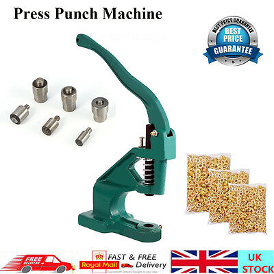 New Press Punch Machine 3 Die 900 Grommets Eyelet Hand Press Tool Banner Flag UK