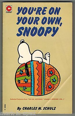CORONET PEANUTS BOOK - #43 You're On Your Own, Snoopy - Schulz (PB)