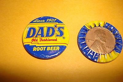 1937 Lincoln Cent Encased In A Dad's Root Beer Bottle Cap