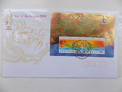 First Day Cover Year of the Dragon 2000 Christmas Island Australia