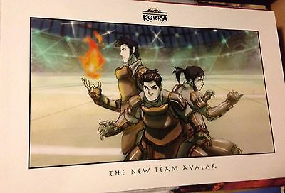 Legend Of Korra Concept Art Poster 2011 Super Rare New Team Avatar