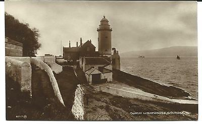 Vintage RP Postcard, Cloch Lighthouse, Gourock. Valentine's.
