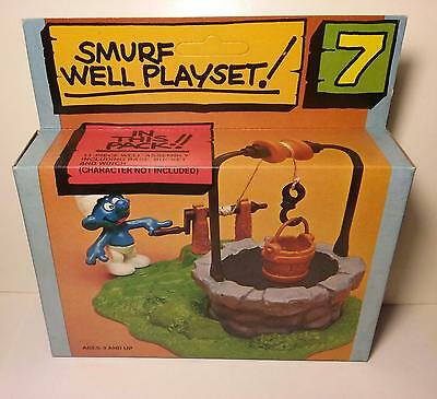 Smurf - Wishing Well Playset - Vintage 1980 - MINT IN BOX