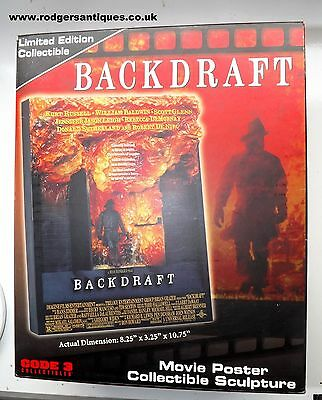 Code 3 Collectibles 17003 BACKDRAFT 3-D RESIN FILM POSTER SCULPTURE Mint & Boxed
