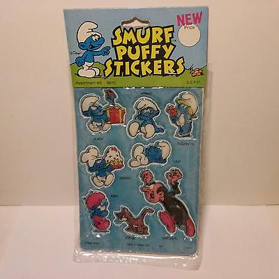 Vintage Smurf Puffy Stickers 1981 Peyo - NEW In Pack - Lot A