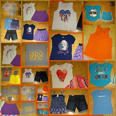 HUGE LOT GIRLS SIZE 14 16 nwt nwot euc 23 items justice place shorts  lot ok