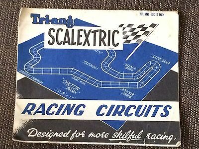 Vintage Scalextric Racing Circuits Booklet / Leaflet SECOND Edition