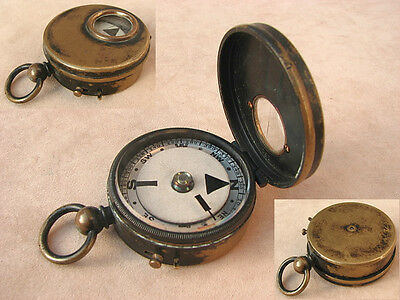 Late 19th century brass cased marching compass
