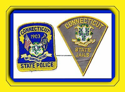 Connecticut State Police Patch 1903 & Connecticut State Jails Corrections Patch
