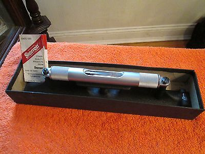 """STARRETT 98-12 12"""" Long Machinists' Level with Ground and Graduated Vial. """"USA"""""""