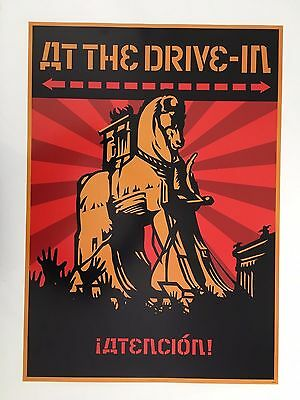 At The Drive In,music Band,artwork By Shepard Fairey Rare Authentic 2000 Poster