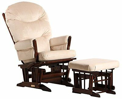 Dutailier 2 Post Glider-Multi-Position Recline and Ottoman Combo, Coffee/Beige