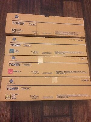 Konica Minolta TN616C TN616M TN616Y TN616K TONER SET BIZHUB PRESS