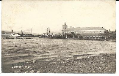 Vintage RP Postcard, Gourock Pier. Paddle Steamer. M & L Ltd National Series..