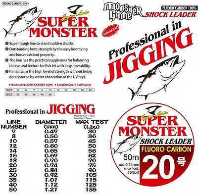 Jigging Master  Super Monster Fluoro Carbon Shock Leader Line