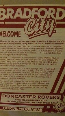 Bradford City vs Doncaster Rovers 1988