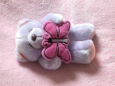 Plush Lilac Forever Friends Teddy Bear with Pink Butterfly