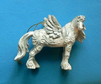 Angel Horse of a Different Color Clydesdale Ornament in Tin 2013 Westland