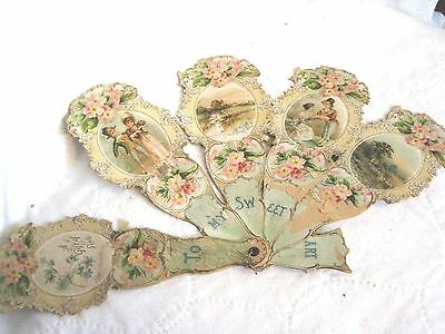 Antique hand held fan,spreads out to make message, Gift of Love