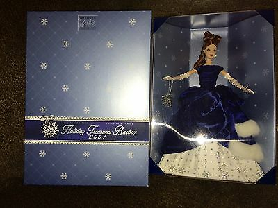 2001 Mattel ~  Holiday Treasures Barbie ~ NIB ~ Third In Series