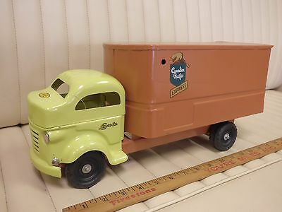 LINCOLN Canadian Pacific Express Delivery Truck Van Pressed Steel Toy CANADA