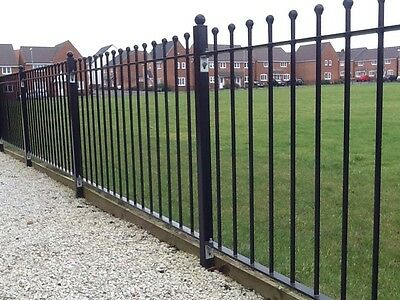 3ft WROUGHT IRON METAL FENCING/RAILINGS RAILING BALL TOP