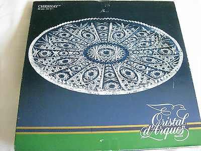 Cristal d'Arques France  32cm Chesnay Genuine Lead Crystal platter