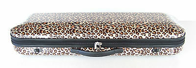 Leopard Oblong Violin Case 4/4 Size Many Features, Durable Quality Materials