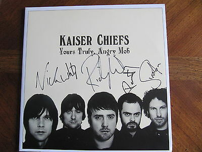 Kaiser Chiefs Signed Autographed Record Lp Yours Truly, Angy Mob Ricky Wilson