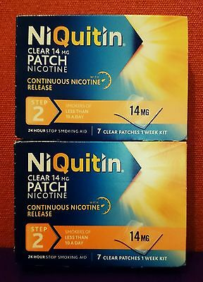 NIQuitin  14mg  ( 14 PATCHES )  Step 2  CQ Nicotine Replacement Stop Smoking Aid