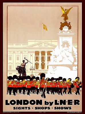 London by LNER England Great Britain Vintage Travel Advertisement Poster