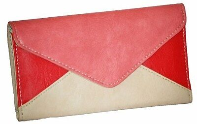 Womens Multi Color Faux Leather Handbag Purse Wallet Card Holder Slim Ladies Bag