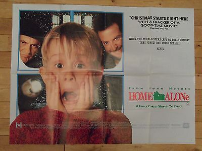 Home Alone Original Uk Quad Poster, Macauley Culkin Joe Pesci