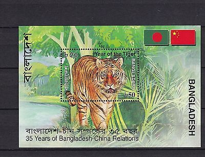 T06547 Bangladesch Bangladesh Block 40 postfr./mnh Tiger Relations with China