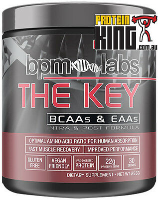 Bpm Labs The Key 255G Cotton Candy Bcaa Eaa Intra & Post Workout Formula Aminos