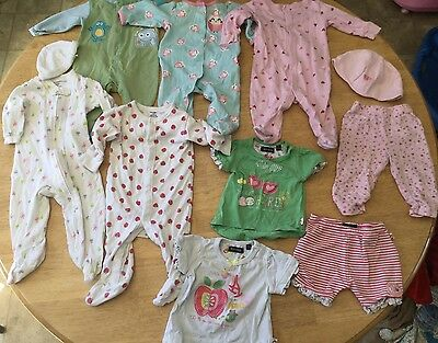 Baby Girl Clothes Sleepers/Outfits Lot (3-6 months)