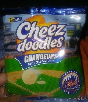 Wise Cheez Doodles Chips Changeups White Chedder Flavored Ny Mets Label