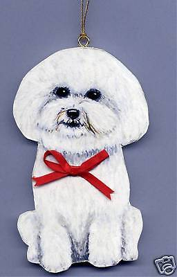 BICHON FRISE Hand Crafted Wooden ORNAMENT * Customized w/Name - Hand Crafted !
