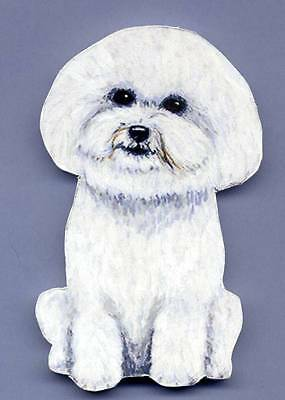 BICHON FRISE Wooden Dog MEMO MAGNET - Hand Crafted !!