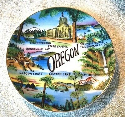 "VINTAGE 1950s Oregon 6"" Souvenir Collectors Plate (Made in Japan)"