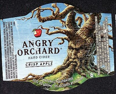 """Free Shipping Hard Cider Bottle Label"""" Angry Orchard """""""