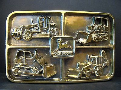 John Deere DEALER Industrial Award 1990 Belt Buckle Backhoe 670B 555G 650G jd