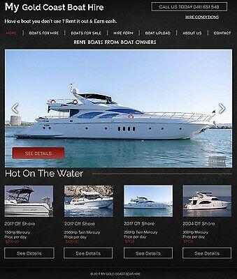 Hire A Boat Online Business, Earn 15% From Each Hire.