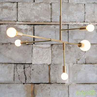 Gold Pipes Chandeliers LED Pendant light Ceiling lamp For Dining room Lighting