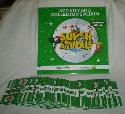 65 Unopened Packs Of Woolworths Christmas Super Animals (260) Cards & Album