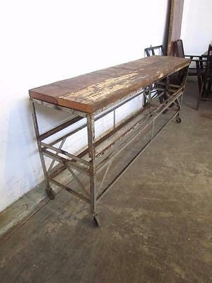 D18091 Large Rustic Industrial Table Kitchen Island Bench Workbench Bar