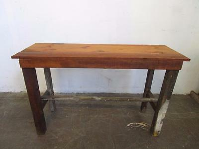D18092 Rustic Solid Timber Bar Table Kitchen Island Bench